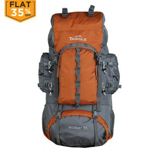 Tripole Walker 65 ltr Rucksack Orange/Grey