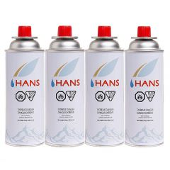Hans Butane Gas Canister Pack of 4