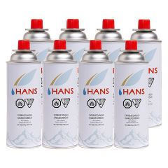 Hans Butane Gas Canister Pack of 8